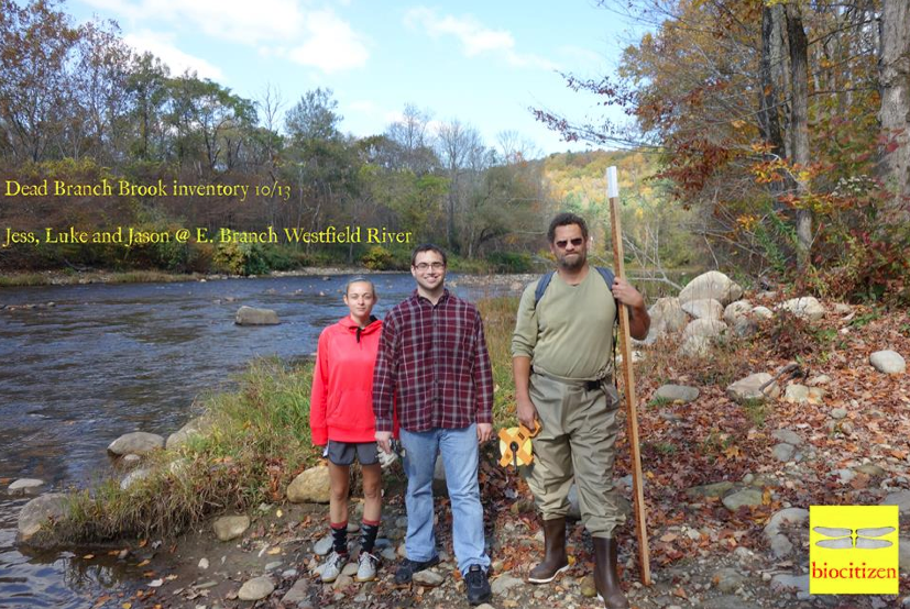 Last Fall Biocitizen measured the depth and breadth of the Dead Branch for MA DEP; this shot was taken where it meets the East Branch of the Westfield River, a federally-designated Wild and Scenic River