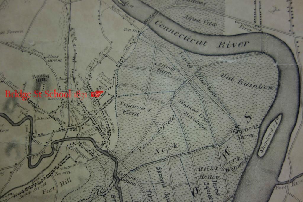 Bridge St school map 1831 copy