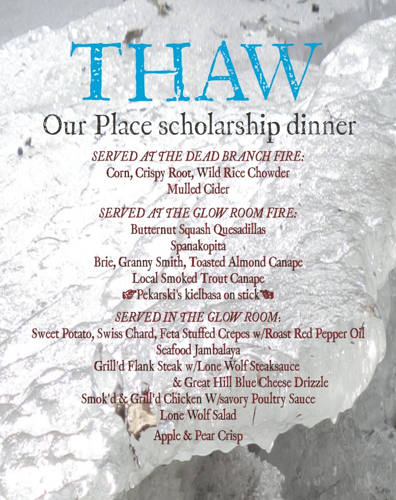 THAW menu copy